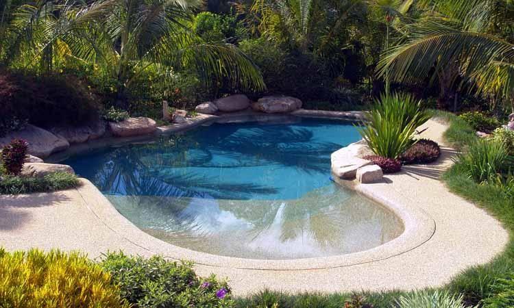 Idée Piscine n°6 : Style oasis / piscine naturelle | decorate | Pool ...