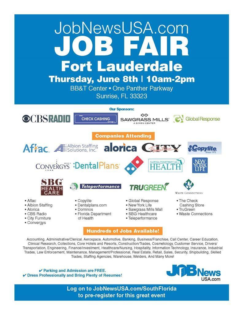 Job Fair In Fort Lauderdale In June Job Fair Broward County Florida Broward