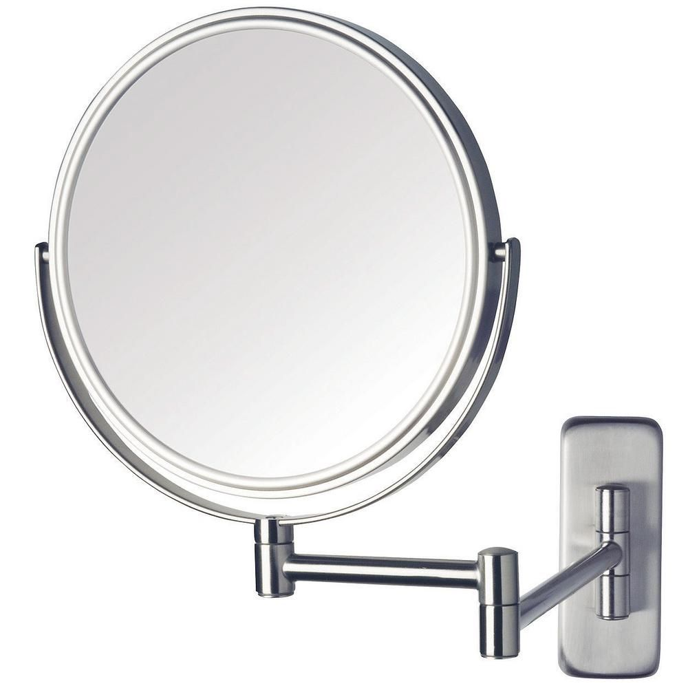 The Awesome Web Wall Mounted Magnifying Mirror Polished Nickel