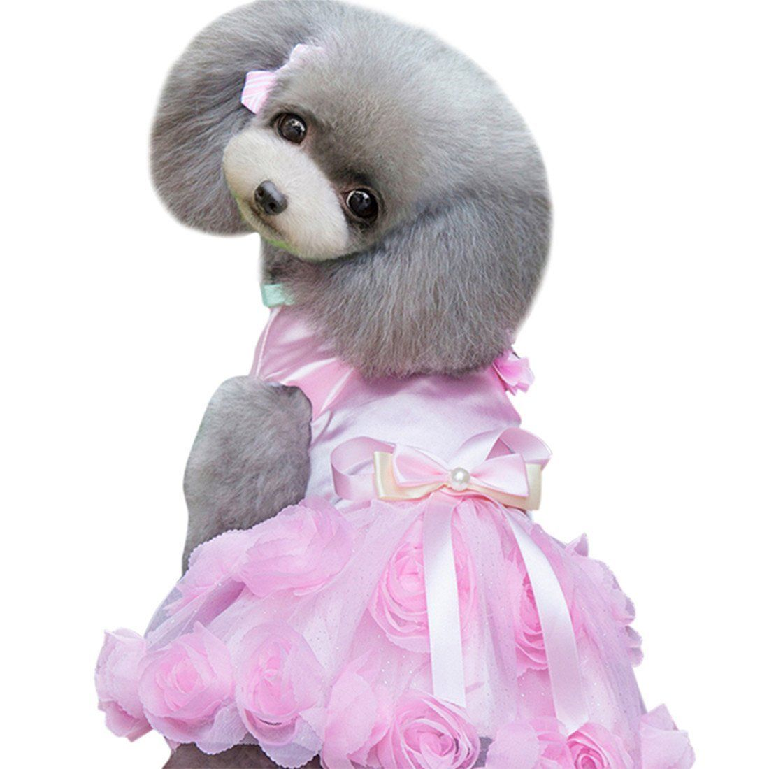 Idefair Pet Puppy Small Dog Cat Lace Skirt Princess Dress Fluffy Skirt Pearls ** You can get additional details at the image link. (This is an affiliate link and I receive a commission for the sales)