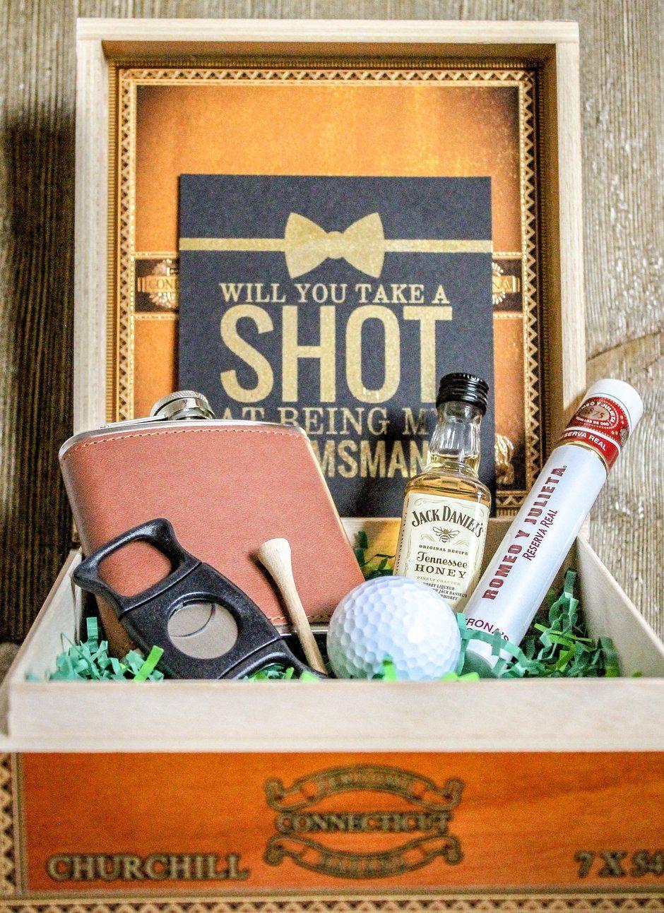 Golf lovers groomsmanbest man gift box in 2020