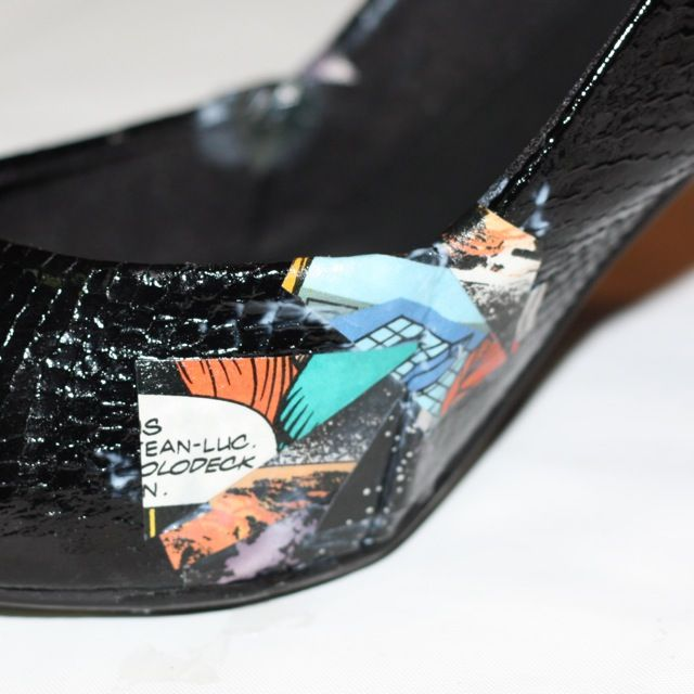 Comic Book Shoes (the best tutorial I've found so far!) - via Anomalous Musings