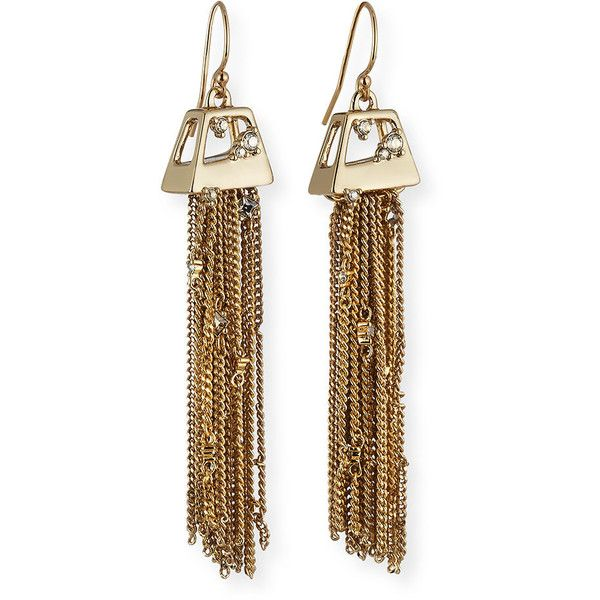 Alexis Bittar Chain Fringe Wire Drop Earrings wpxQ0IpkgI