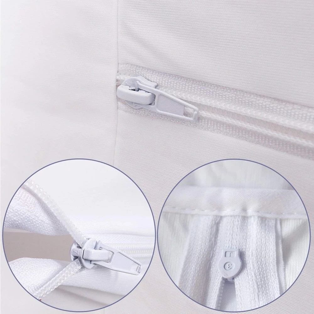 Smooth Zipper Waterproof Mattress Cover Bed Bug Proof