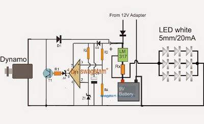 Rechargeable Led Lamp Circuit Diagram   Rechargeable Led Lantern Circuit Using Dynamo Electrical Diagram