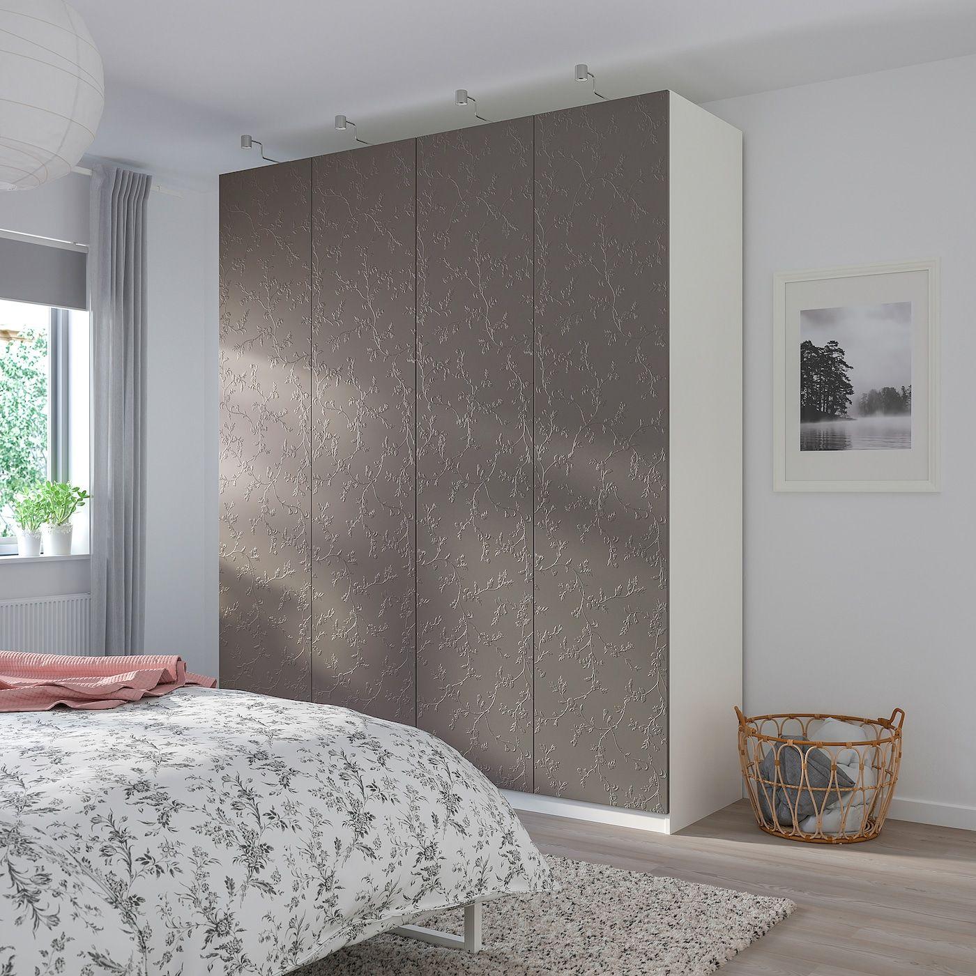 IKEA PAX Wardrobe white, Flornes dark gray | Pax