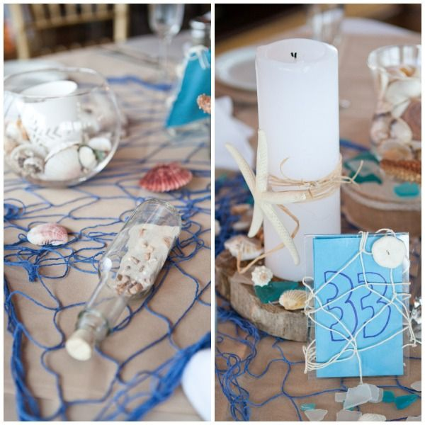 Beach Theme Wedding Centerpieces Mazelmoments