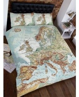 Vintage europe map double duvet cover and pillowcases set vintage duvet vintage europe map double duvet cover gumiabroncs Images