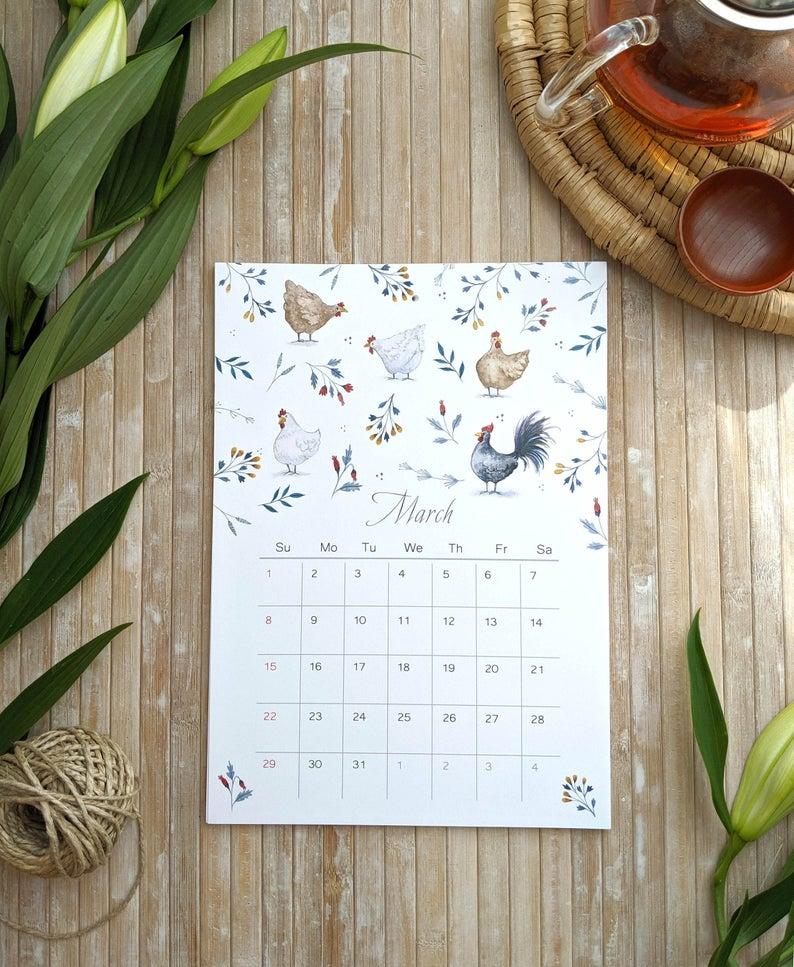 Wall calendar 2020, Planner 2020, 2020 Calendar, Holiday ...