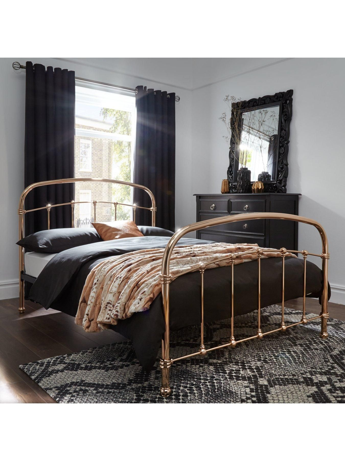 Self Assembly Bedroom Furniture Statement Design The Classically Designed Lambeth Metal Bed Self
