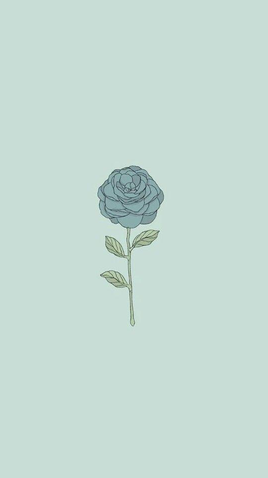 Blue Flower Papel De Parede Flor Azul Papeldeparede Fundos