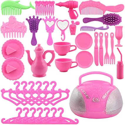 106 Pieces Doll Clothes and Accessories for 11.5 Inch Girl Doll