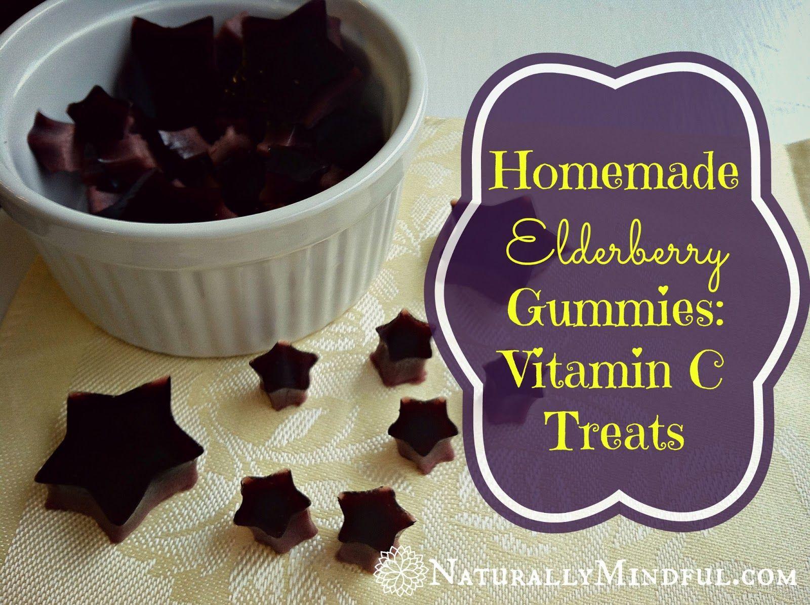 Homemade Elderberry Gummies: Vitamin C Treats   Naturally Mindful