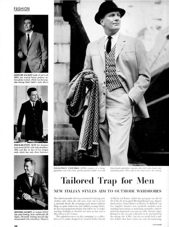1950 S Brioni Roman Style Takes Tinseltown Sacking Ivy Style 1950s Fashion Menswear Roman Fashion Mens Fashion