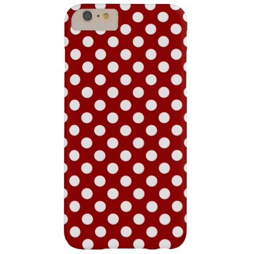 SOLD Trendy Vintage Dark Red and White polka dots iPhone 6 Plus case by #PLdesign #PolkaDots #iPhone6