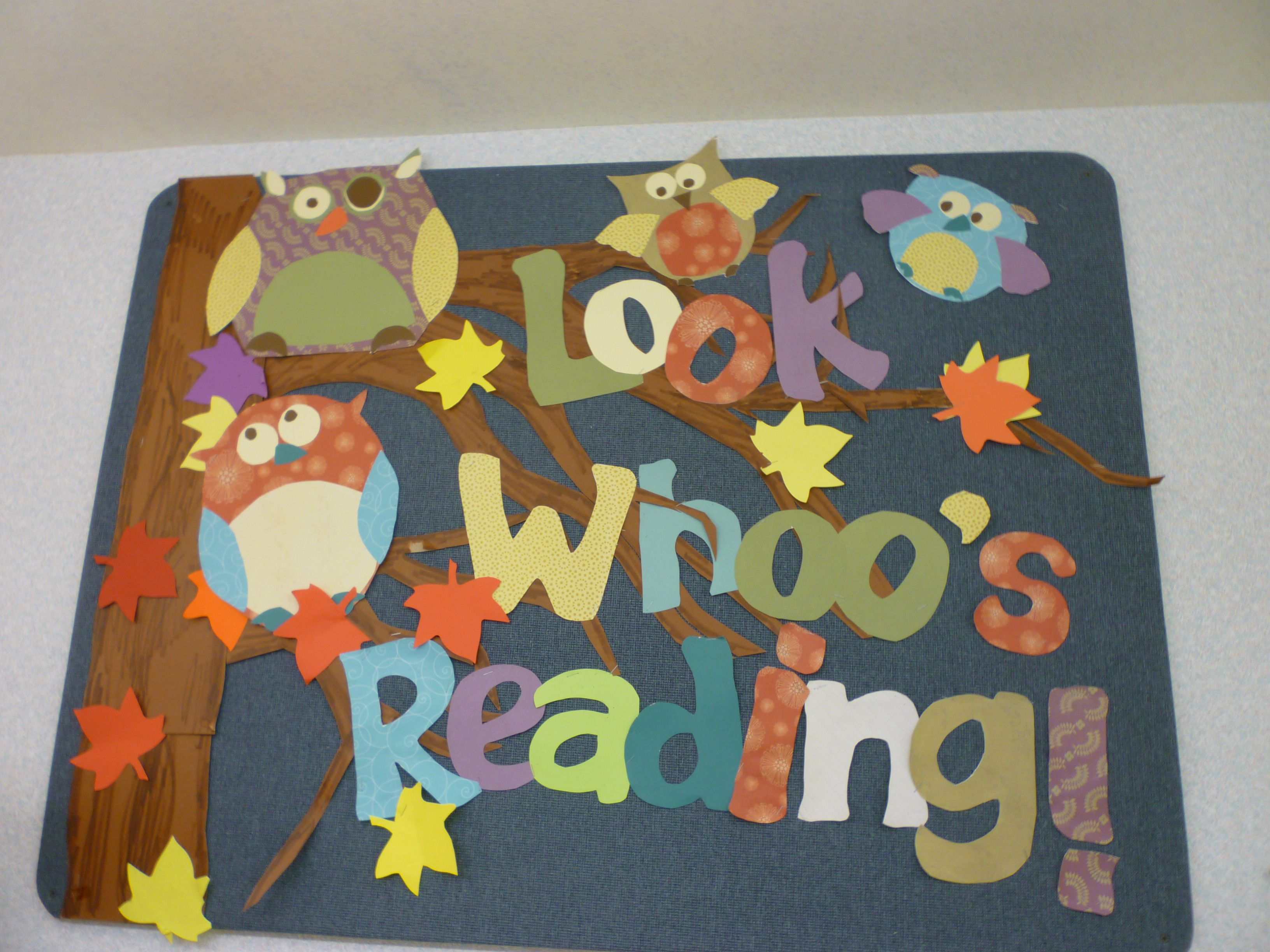 look whooo s reading fall owl bulletin board designed by janet