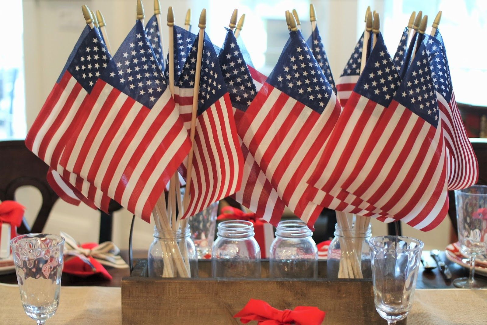 Th of july centerpiece fourth of july pinterest napkin ideas