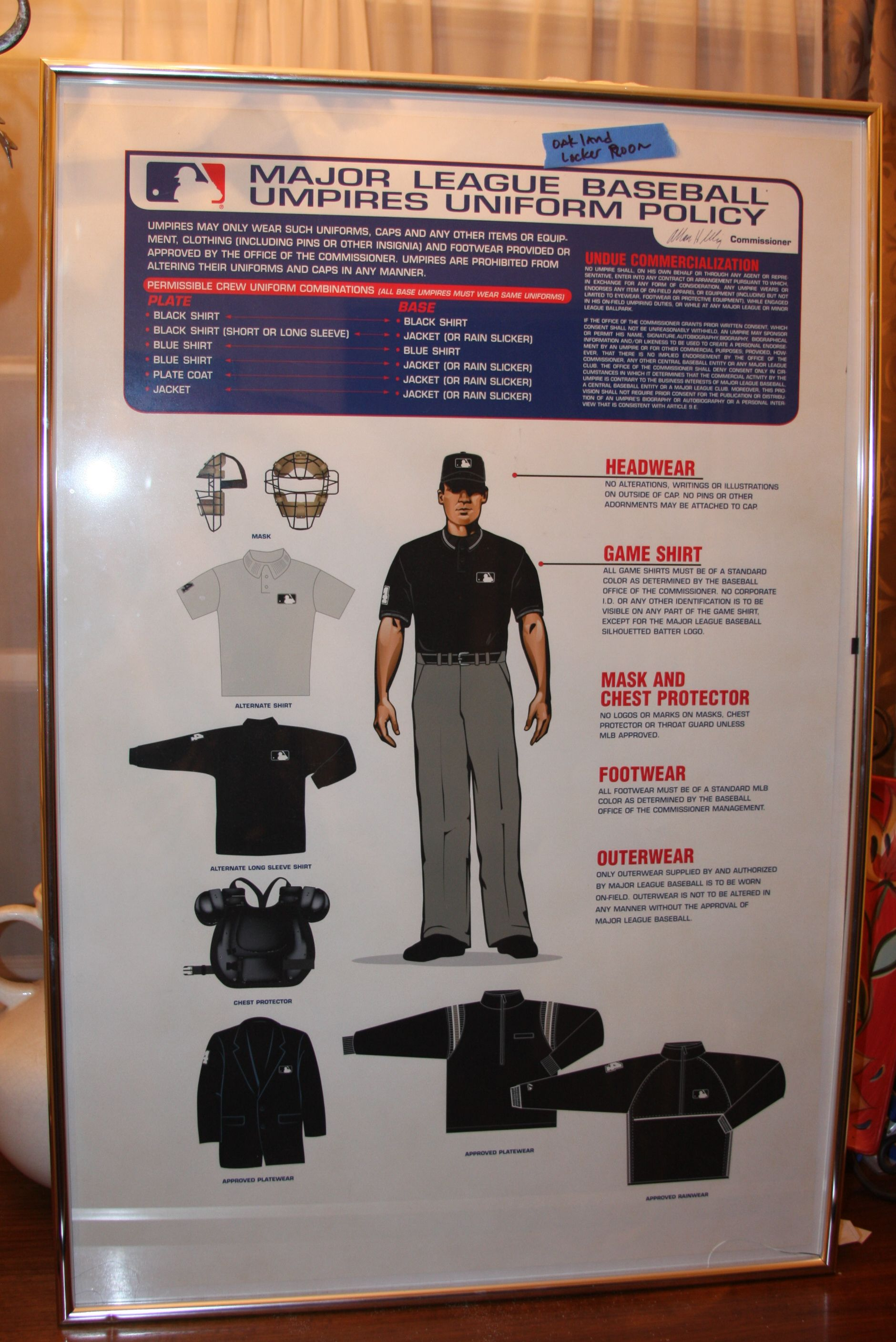 Movie Prop From Moneyball With Brad Pitt And About The Umpires Uniform Policy For The Mlb Umpires Gaming Shirt Uniform Policy Combination Black