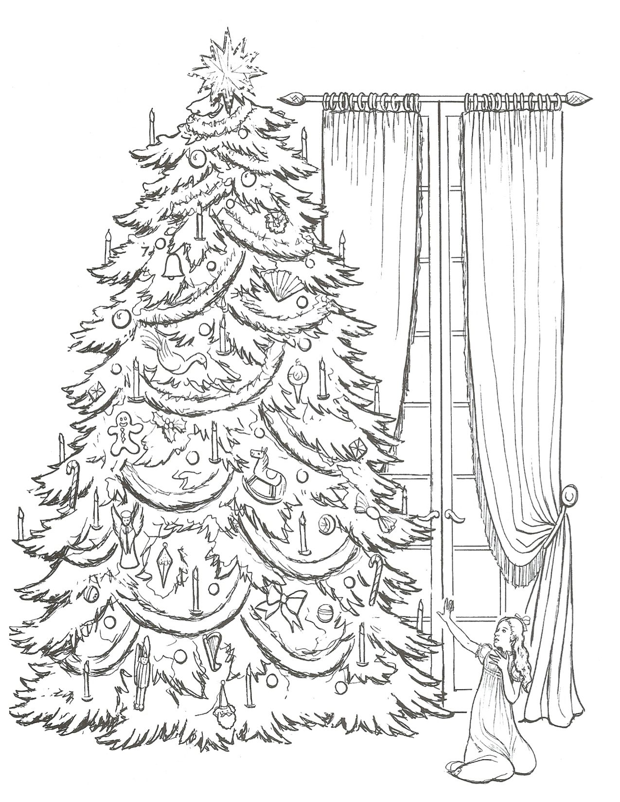 Pinterest christmas adult coloring pages - Clara Nutcracker Coloring Page Adult Coloringcoloring Bookscoloring Pageschristmas