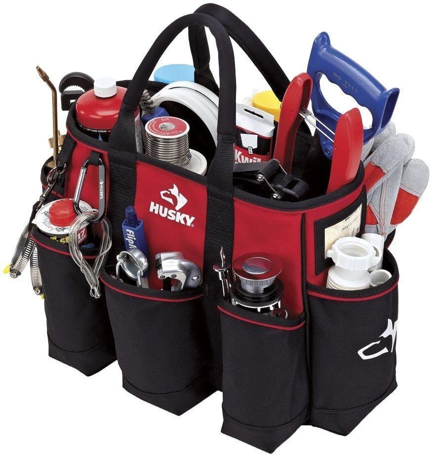Tool Supply Bag Tote Organizer Storage Cleaning Electrician Painting Heavy Duty Cleaning