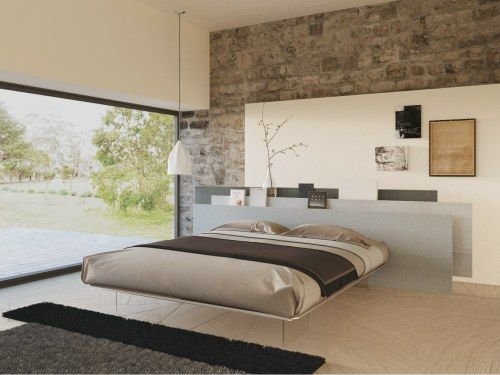 new concept 4d7e9 828c6 Floating Bed design featuring natural stone and creative ...