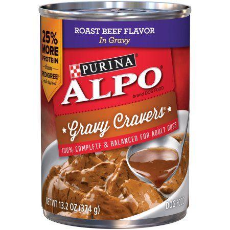 Purina Alpo Gravy Cravers Roast Beef Flavor in Gravy Dog Food Case of 12- 13.2 oz. Cans