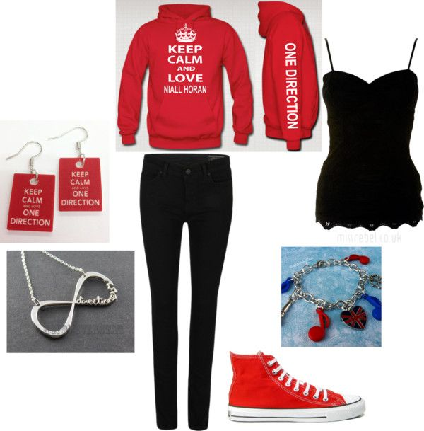"""""""Tina's Love for 1D"""" by saintscanesbella ❤ liked on Polyvore"""