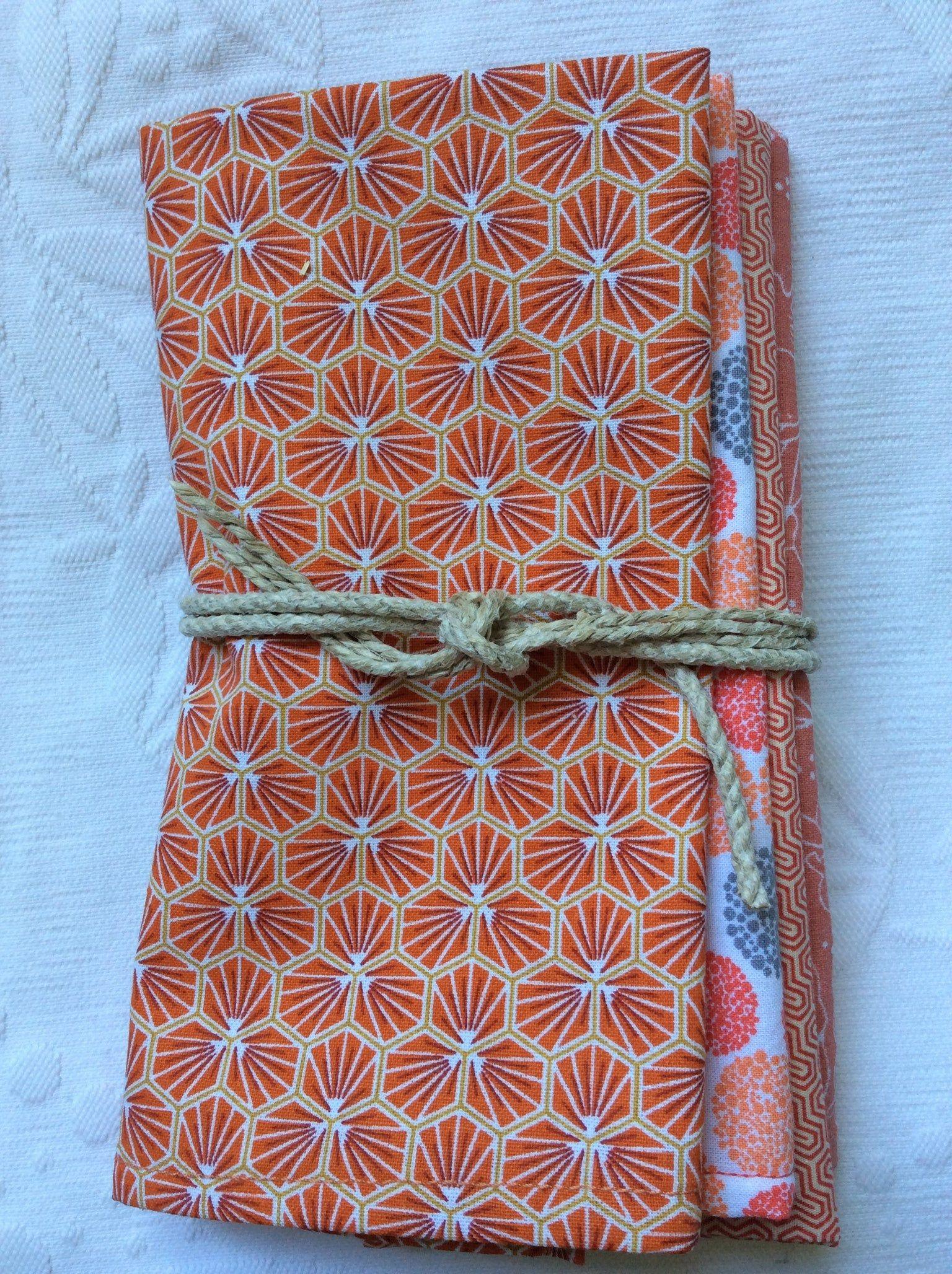 Lot De 4 Serviettes De Table En Coton In 2020 Gifts Gift Wrapping Wrap
