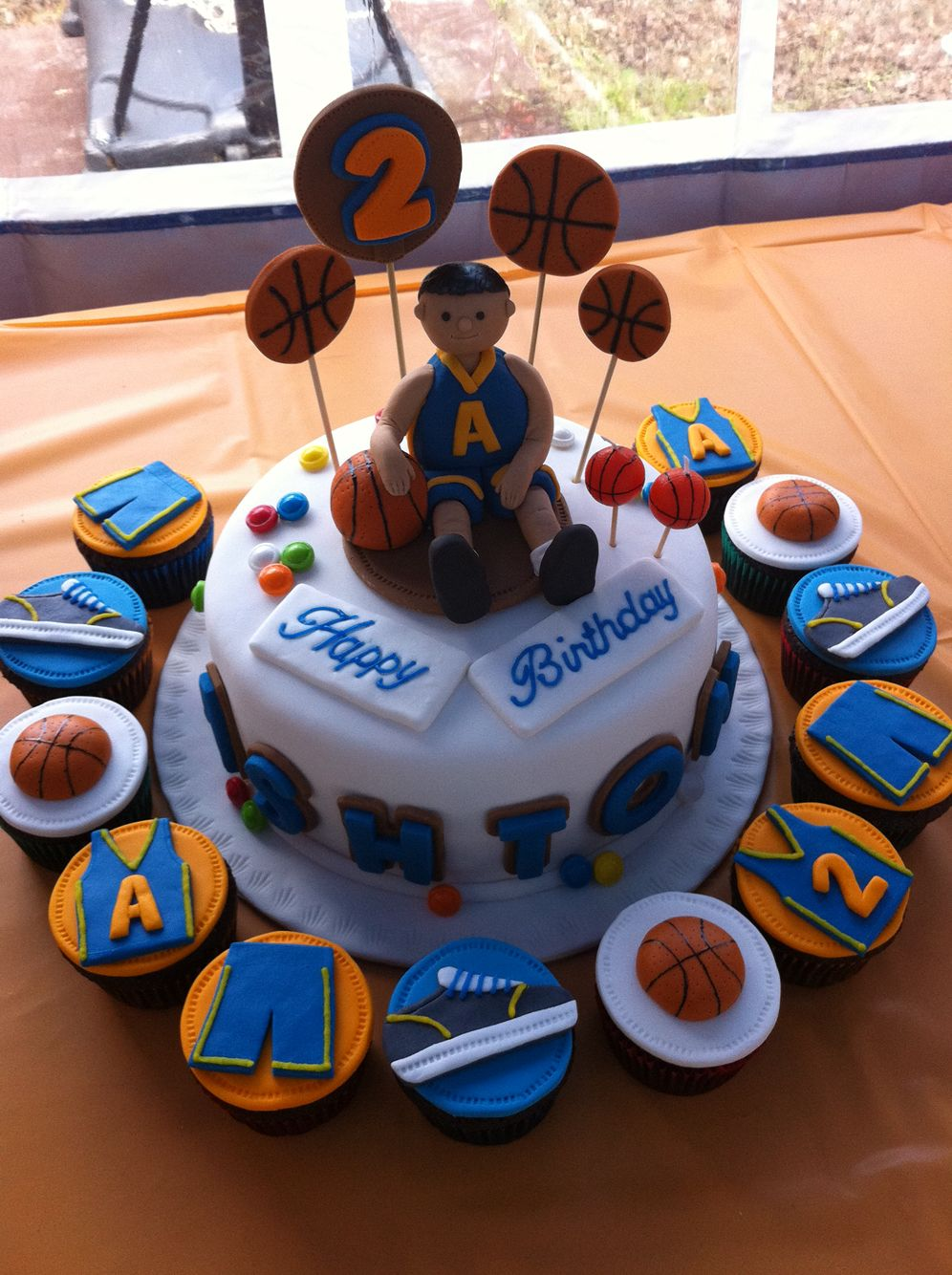 Basketball themed cake and cupcake order themed cakes cake