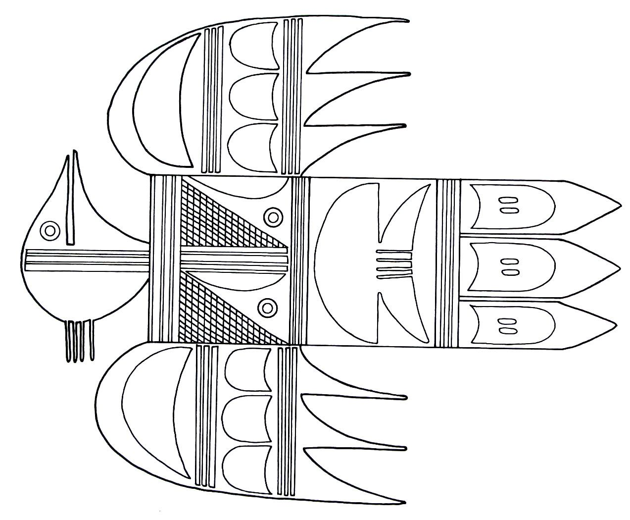 A Thunderbird Symbol From The Hopi Indians Printable Coloring Book Page Coloring Pages Designs Coloring Books Printable Coloring Book