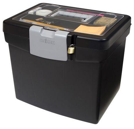Storex File Storage Box Xl Storage Inside Lid Noir Black Letter
