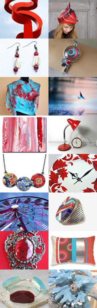 When Blue Met Red - A Shiny Happy People Team Treasury by Carla on Etsy--Pinned with TreasuryPin.com