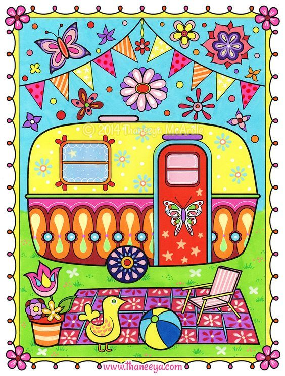 Art From Thaneeya McArdles Happy Campers Coloring Book
