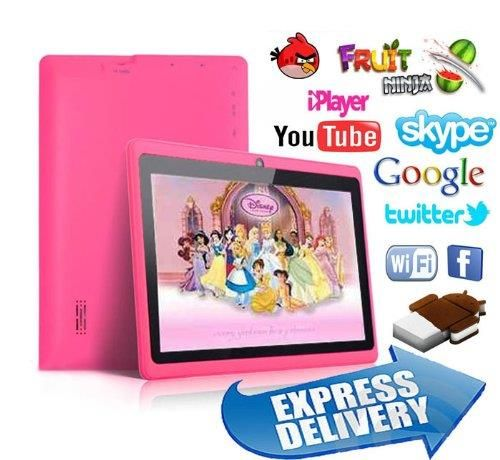 FastTouch(TM) 7'' Tablet PC 4GB - PINK, Allwinnwer A13 Boxchip Cortex A8 Android 4.1, 512MB Ram, Multiple Touch Capacitive Scree, WiFi, Camera, Skype, Netflix Movies - http://yourperfectcamera.com/fasttouchtm-7-tablet-pc-4gb-pink-allwinnwer-a13-boxchip-cortex-a8-android-4-1-512mb-ram-multiple-touch-capacitive-scree-wifi-camera-skype-netflix-movies/