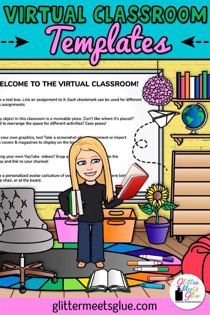 Virtual Classroom Templates for Elementary Teachers in