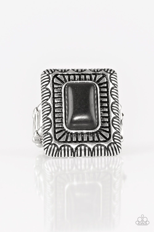 Tumbleweed Deserts Black Black Rings Amazing Jewelry Paparazzi Jewelry