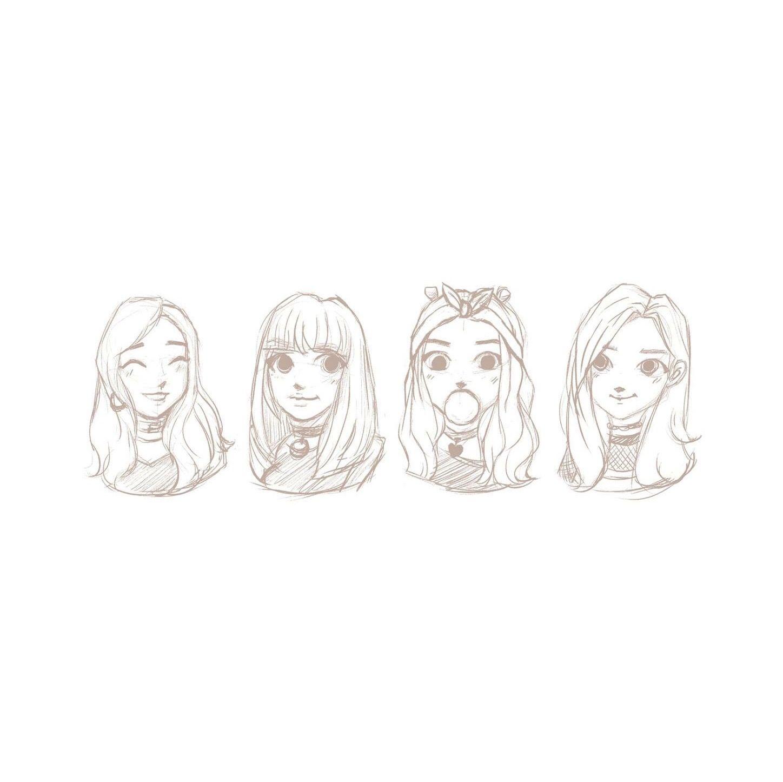 Sketch Jennie Lisa Jisoo Rose Blackpink Fanartblackpink Fanart Mayko Sketch Kpop Drawings Art Drawings Sketches Simple Drawings