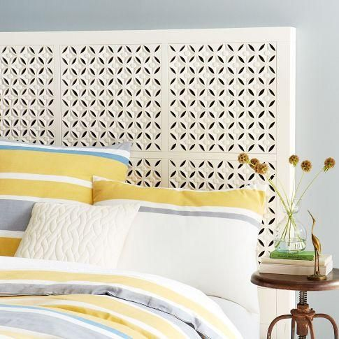 Carved Headboard White West Elm Moroccan Style