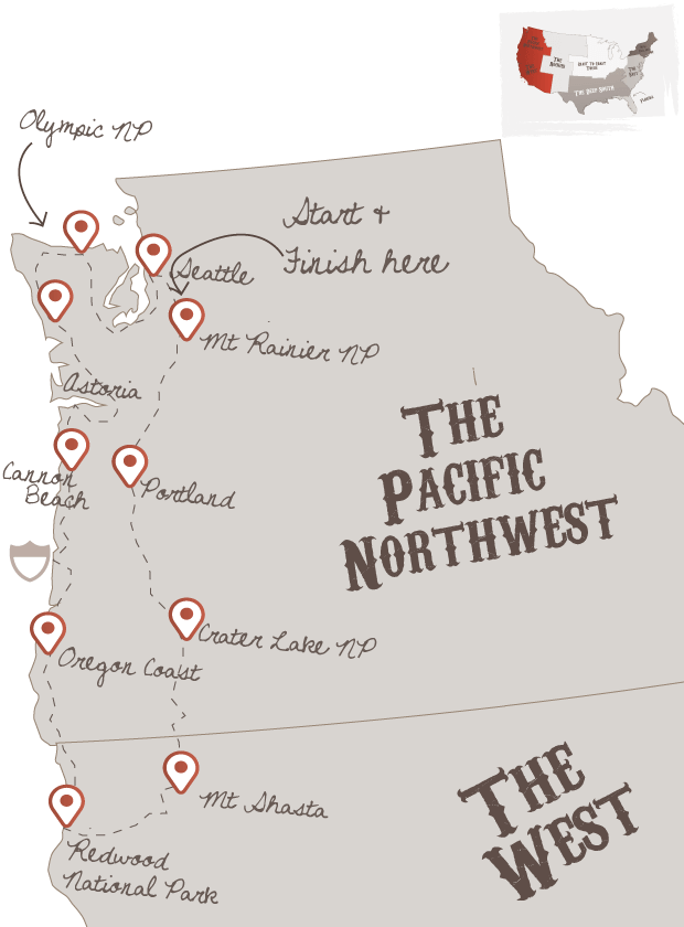 North West Road Trip | The American Road Trip Company