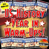 Photo of US History Year in Warm-Ups Skill Based, Mini Lessons, Bell Ringers Bundle