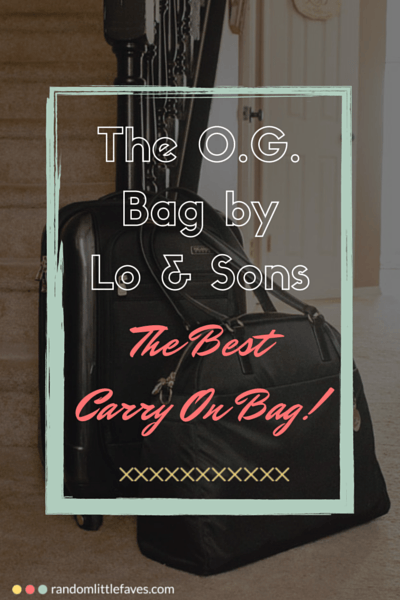 The O.G. Bag by Lo & Sons via randomlittlefaves.com