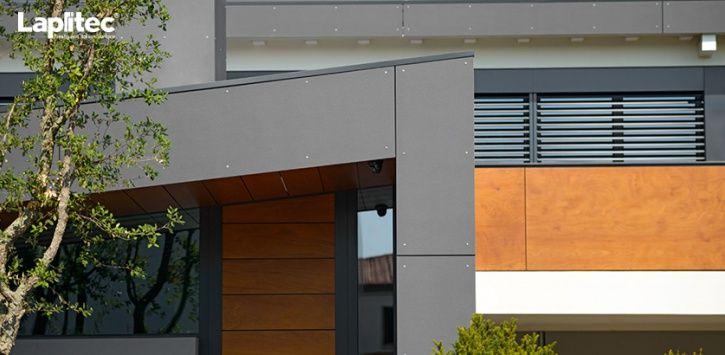 Rivestimento esterno: unelegante combinazione di legno e Lapitec ...
