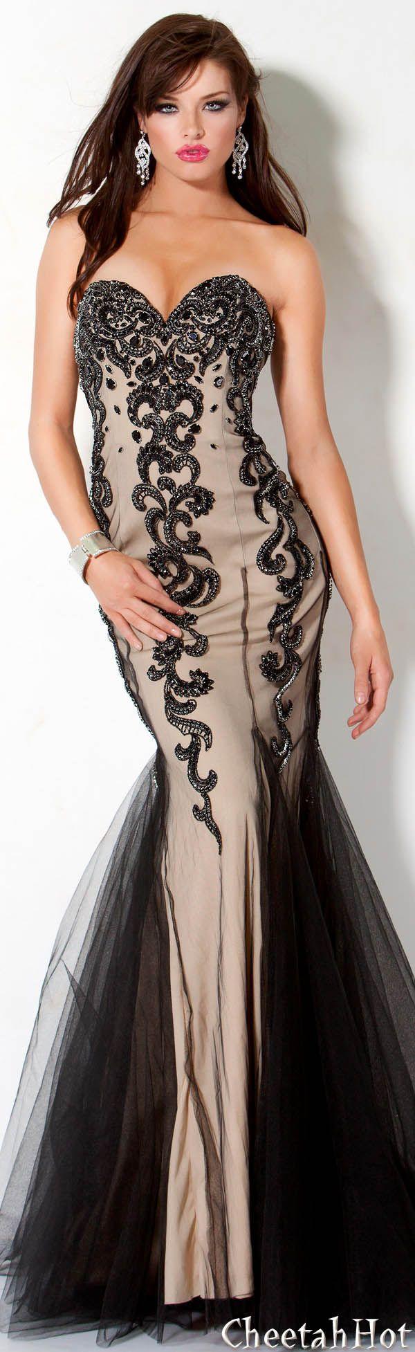 Jovani authentic designer dress pretty strapless gown black