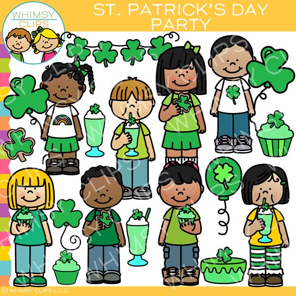 Saint Patrick S Day Party Clip Art Clip Art Kids Clipart Art Bundle
