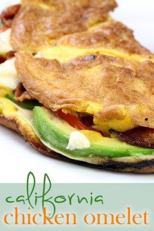 California Chicken Omelet - Easy Low Carb Breakfast Idea