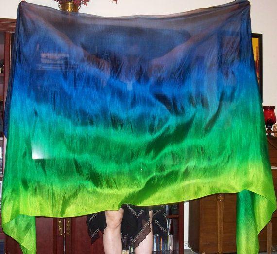Sahariah's Silk Belly Dance Veil Rectangle 3 by SilksbySahariah, $45.00
