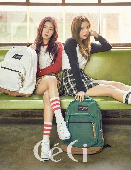 Red Velvet S Irene And Joy Rock Jansport Backpacks For Ceci Red Velvet Irene Red Velvet Joy Red Velvet