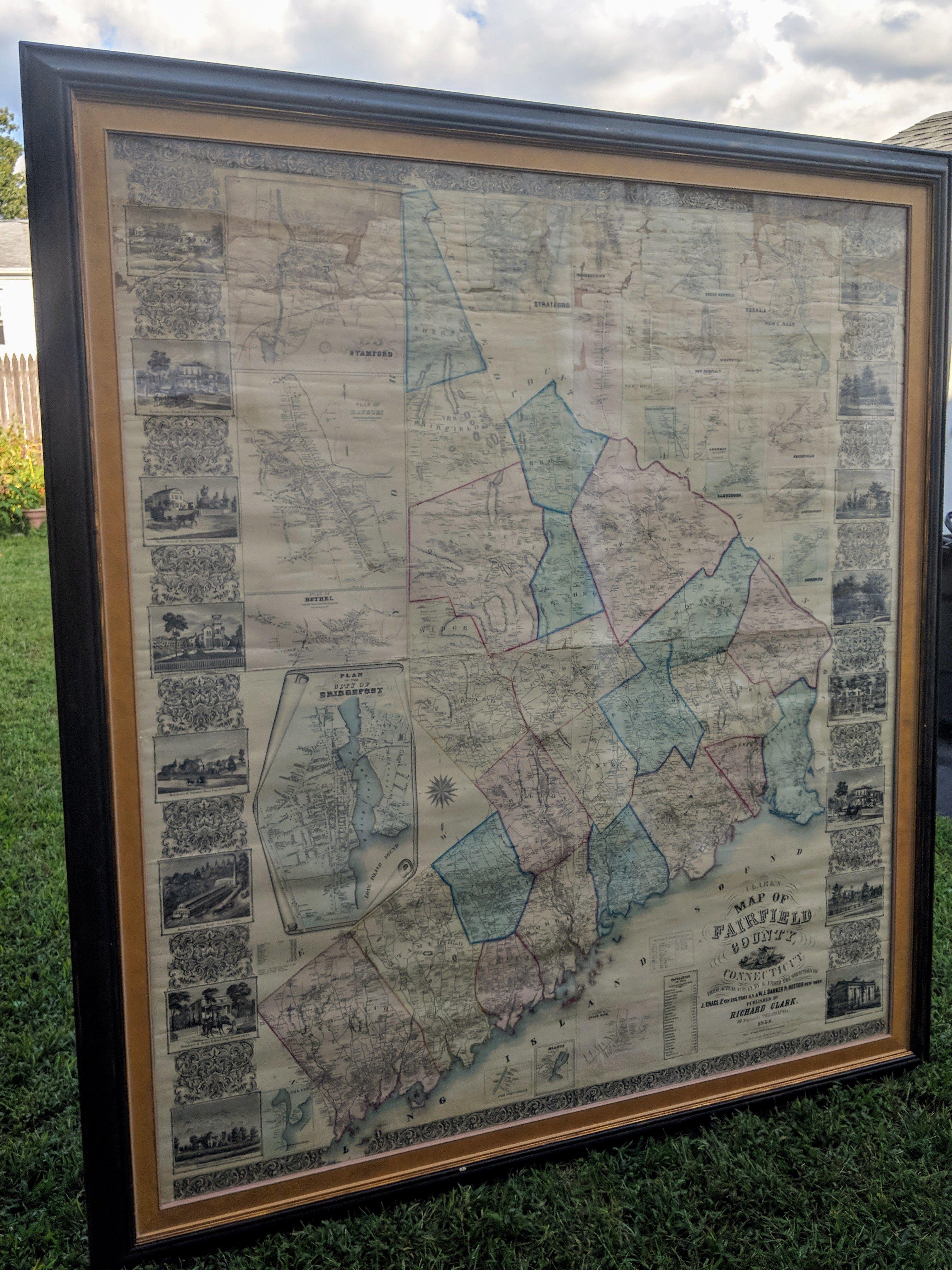 Antique map of Fairfield County, CT   Antique & Vintage Art ...