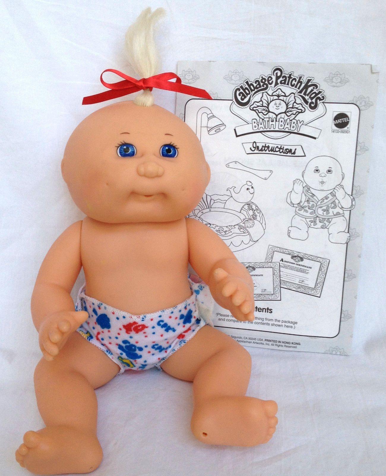 Mattel First Edition 1995 Cabbage Patch Kids 11 Bath Baby Instructions Ebay Cabbage Patch Kids Baby Bath Cabbage Patch