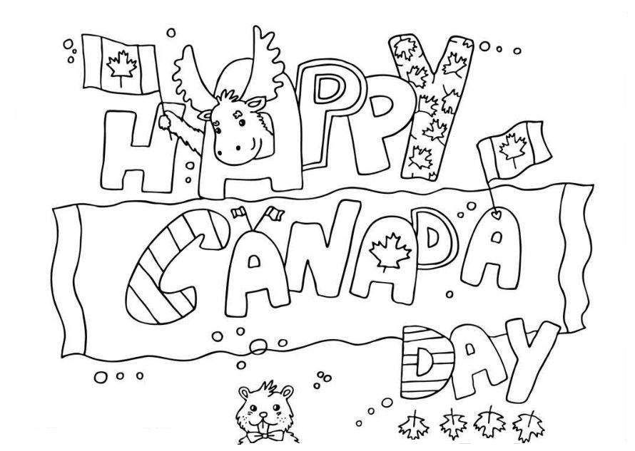 happy canada day coloring pages
